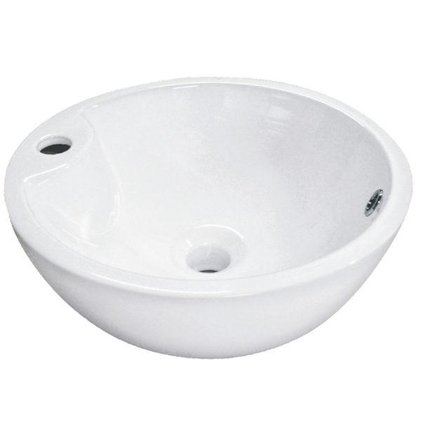 Okrągła umywalka nablatowa KERRA 40.5 cm