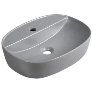 Szara półmatowa umywalka nablatowa KERRA