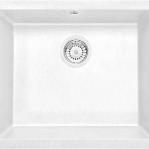 Deante Corda Flush Zlewozmywak 1-komorowy bez ociekacza - alabaster
