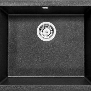 Deante Corda Flush Zlewozmywak 1-komorowy bez ociekacza - grafitowy metalik