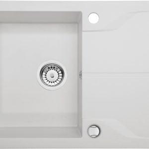 Deante Andante Flush Zlewozmywak 1-komorowy z ociekaczem - alabaster