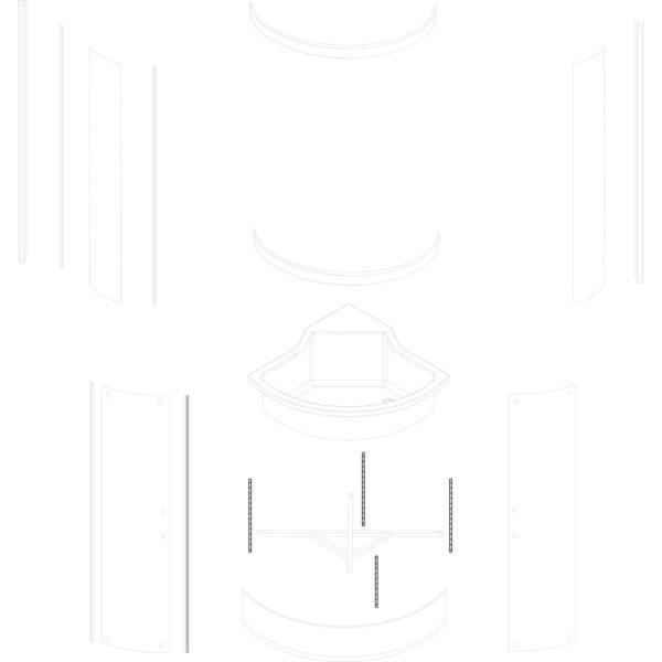 pręt gwintowany M12 Azalia - komplet