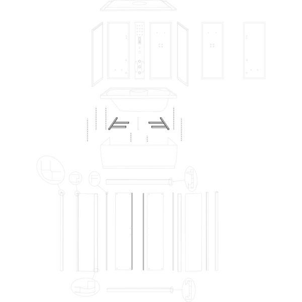 stelaż boczny brodzika XL - nowa wersja - kpl.