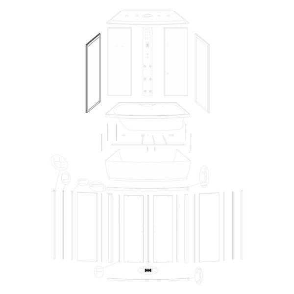 Ścianka boczna lewa Mocca 140