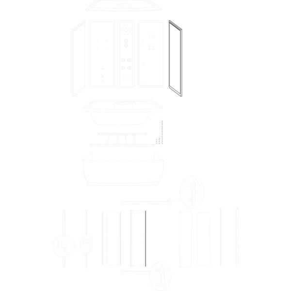 ścianka boczna prawa Laguna Lux 170