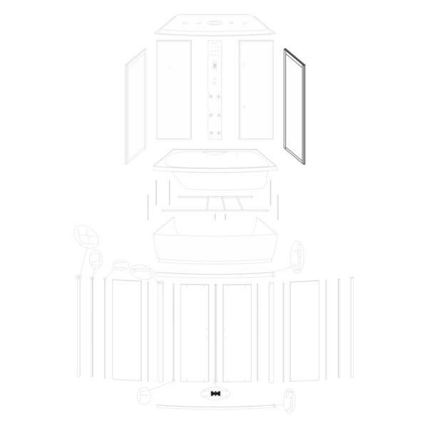Ścianka boczna prawa Mocca 140