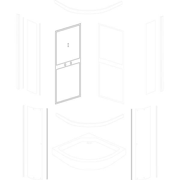 ścianka tylna lewa Classic 80 White