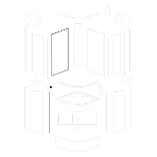 ścianka tylna lewa Karolina 90 WH (biała)