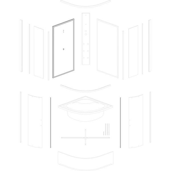 ścianka tylna lewa Kalina/Kornelia/Santos 80