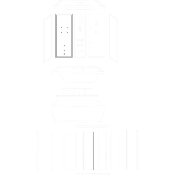 ścianka tylna lewa Laguna/Roma 150