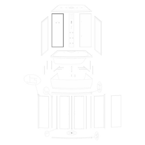 Ścianka tylna lewa Lena 150/ST