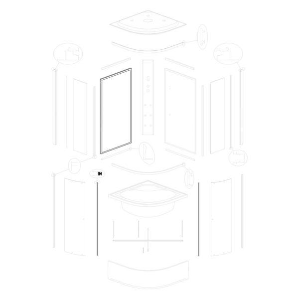 Ścianka tylna lewa Vigo 80