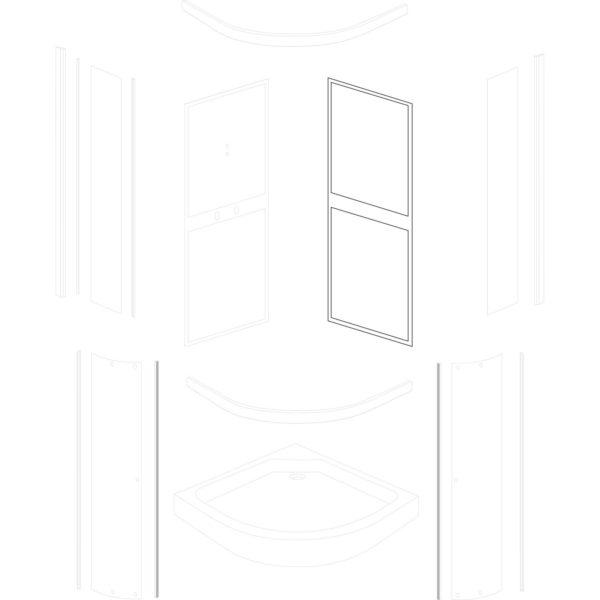ścianka tylna prawa Classic 90 Grey