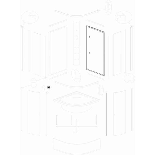 ścianka tylna prawa IVO/Presto 90