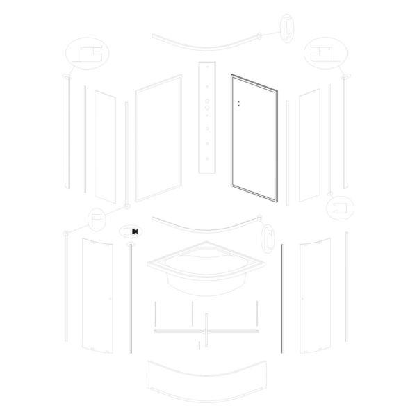 ścianka tylna prawa Karolina 90 WH (biała)