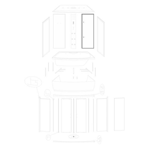 Ścianka tylna prawa Lena 150/ST