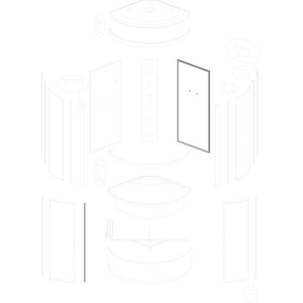 ścianka tylna prawa Silver Prime 90