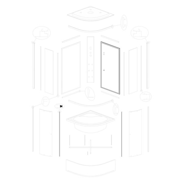 Ścianka tylna prawa Vigo 90