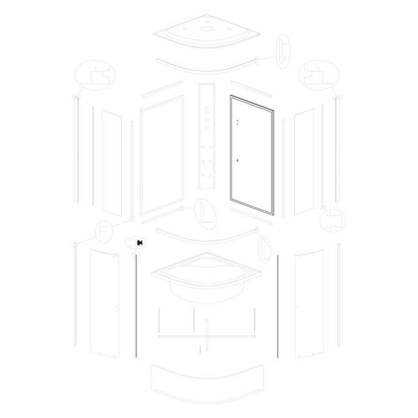 Ścianka tylna prawa Vigo 80