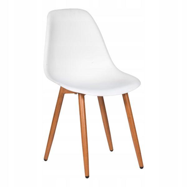 Krzesło skandynawskie białe nowoczesne