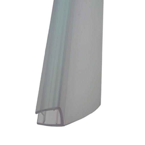 """Uniwersalna boczna uszczelka do kabiny o przekroju """"h""""- szkło 8 mm"""