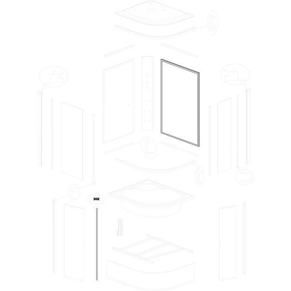 ścianka tylna szeroka Jukon