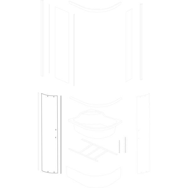 duża szyba drzwiowa Azalia 100x80/120x80 BR