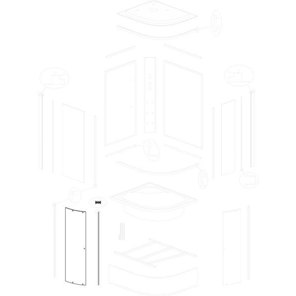 szyba drzwiowa szeroka Jukon