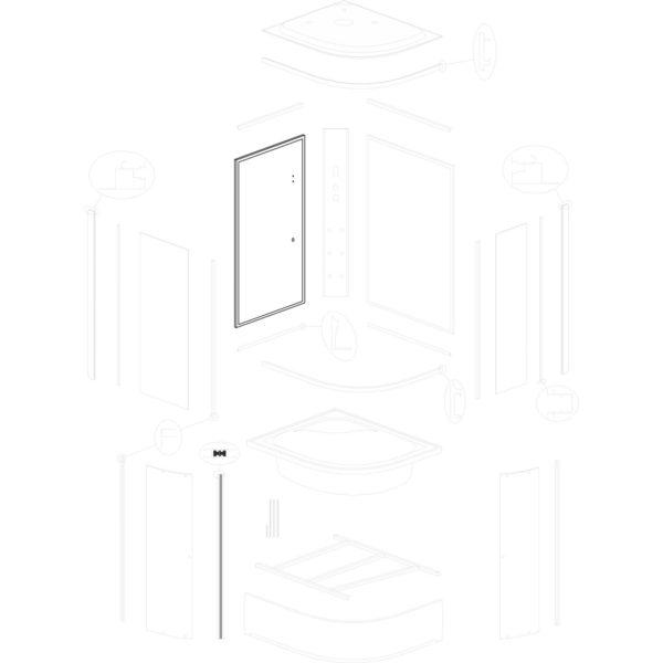 ścianka tylna lewa Jukon L