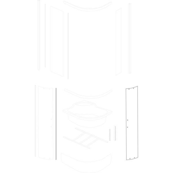 mała szyba drzwiowa Azalia 100x80/120x80 BR