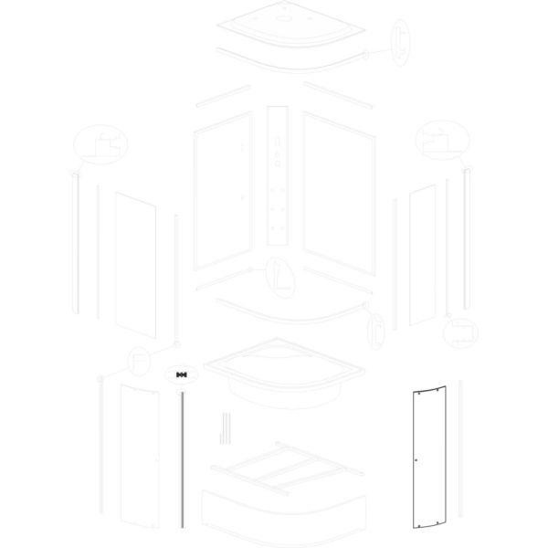 szyba drzwiowa wąska Jukon