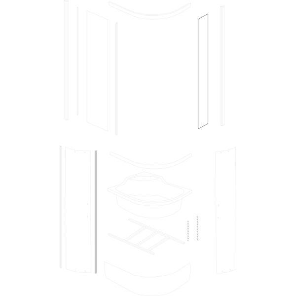mała szyba stała Azalia 100x80/120x80 TR