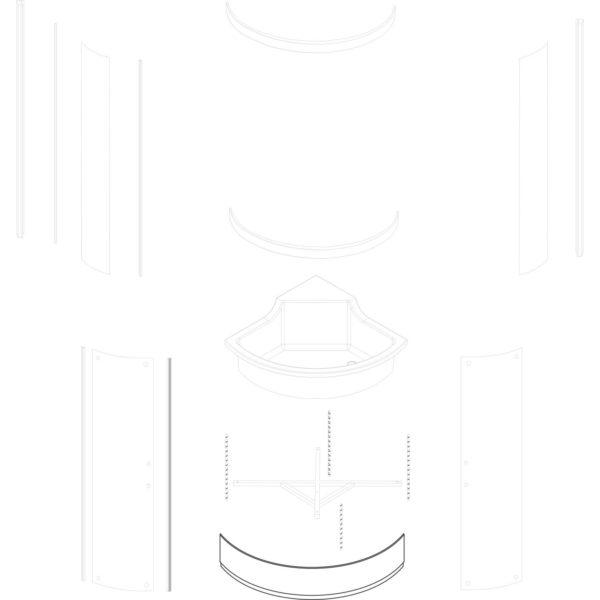 osłona brodzika Azalia 80 - nowa wersja