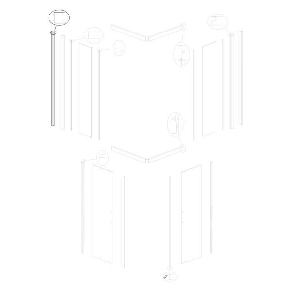 Profil ścienny Tiara/Tiara Square