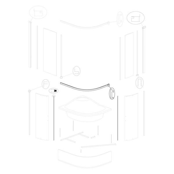 Profil poziomy dolny Katia Duo 100 L