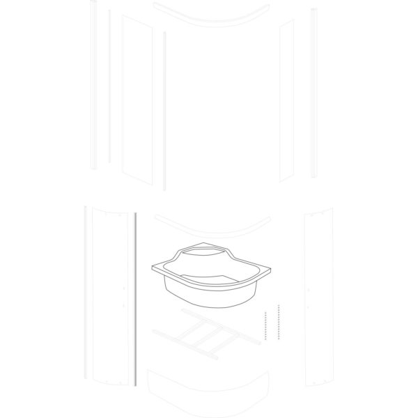 skorupa brodzika Azalia 100x80 L - nowa wersja