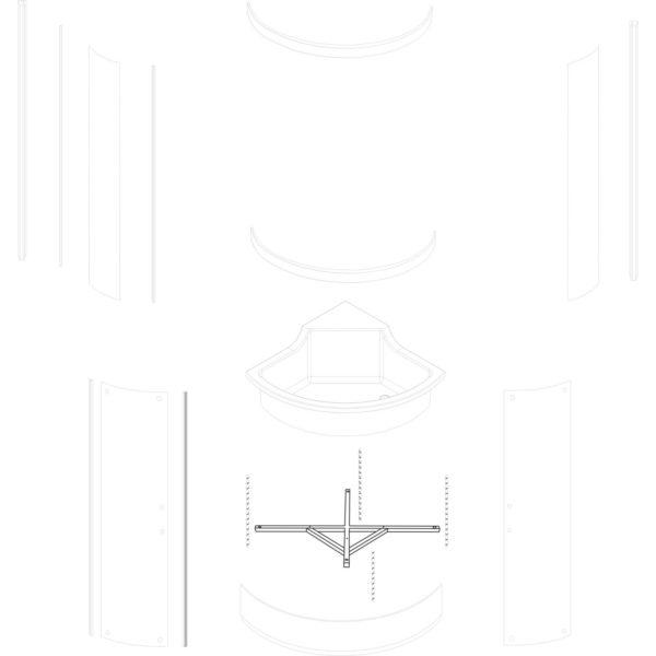 stelaż brodzika Azalia 90