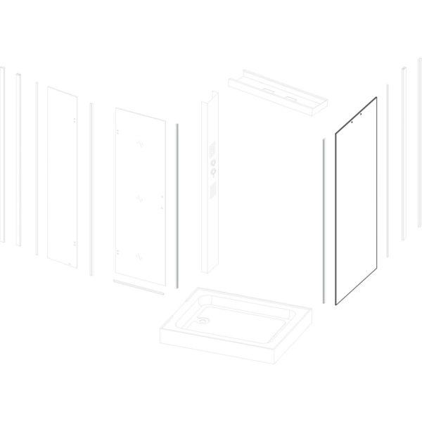 szyba boczna Duet 100x80 G/Sonea