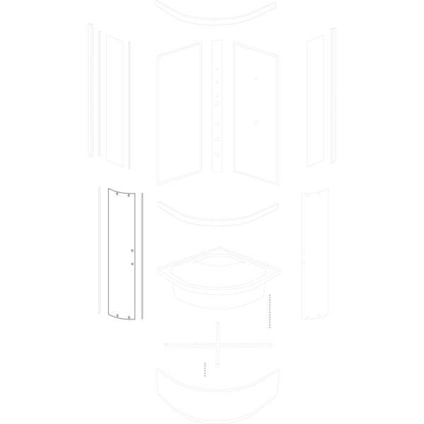 szyba drzwiowa Argo 90