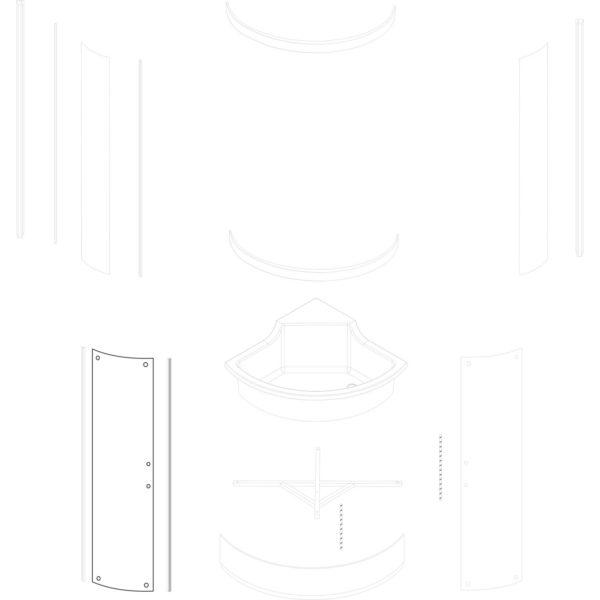 szyba drzwiowa Azalia 80 TR