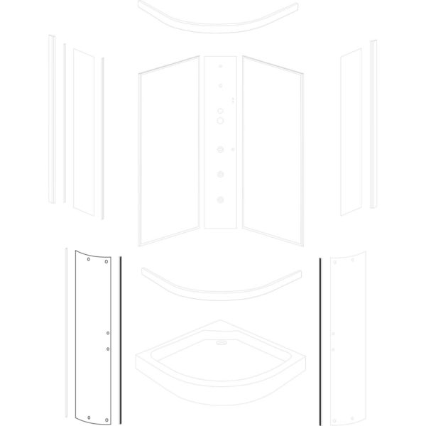 szyba drzwiowa Faro 80