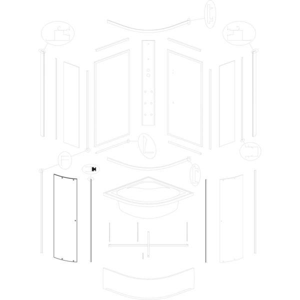 szyba drzwiowa IVO/Presto 90