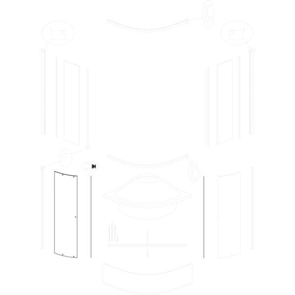 szyba drzwiowa Kaja 90 GR
