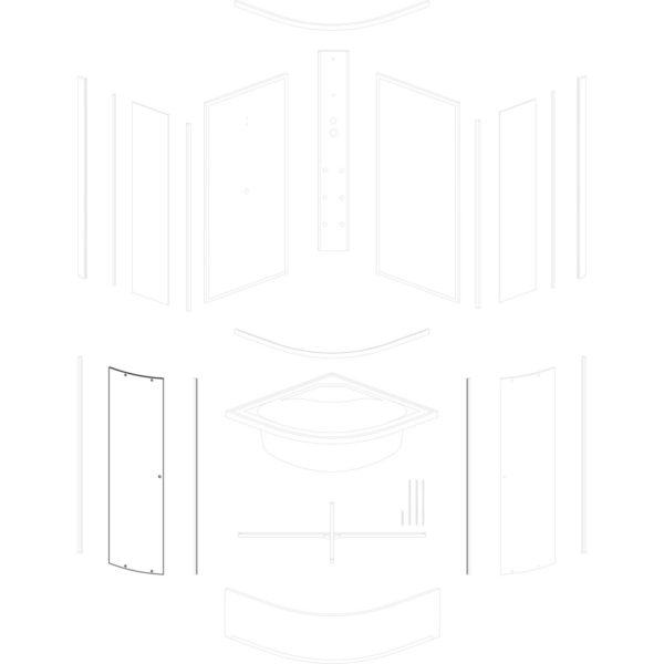 szyba drzwiowa Kalina/Kornelia 80