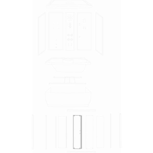 szyba drzwiowa Laguna Lux 170