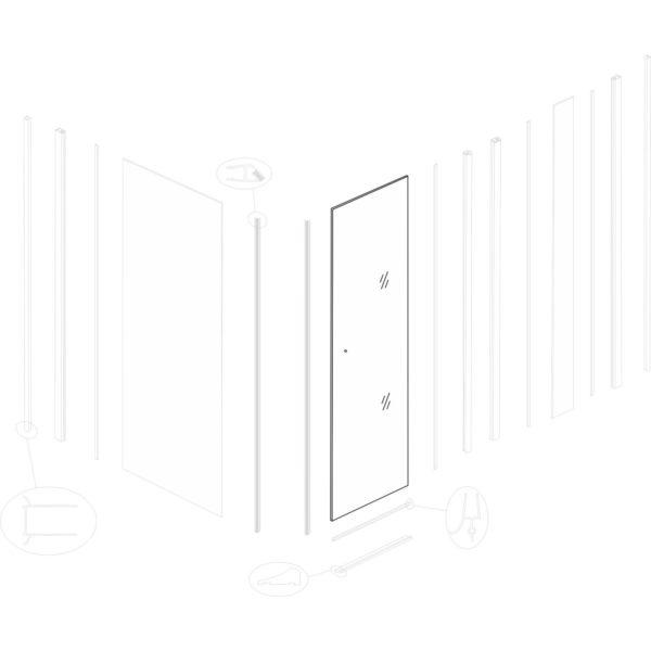 szyba drzwiowa Lydia 80