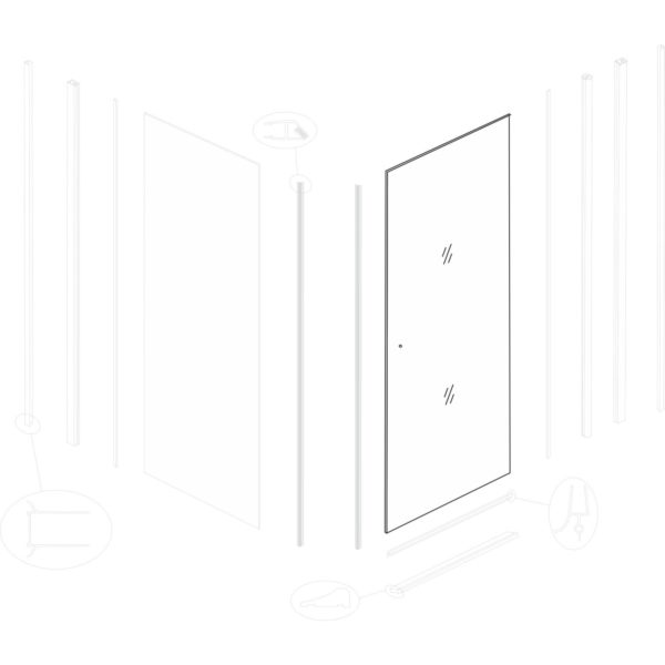szyba drzwiowa Emilia 90
