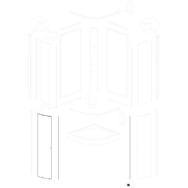 szyba drzwiowa MIA 80