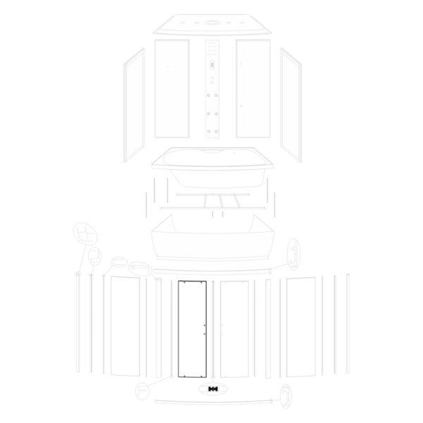 Szyba drzwiowa Mocca 150