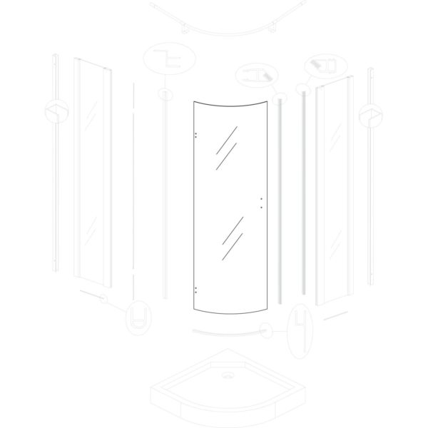 szyba drzwiowa Neptun 90 BL